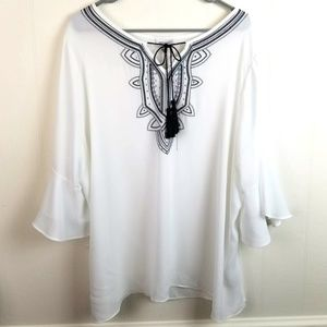 NWT Avenue 18/20 1X Plus Size Career Blouse Top